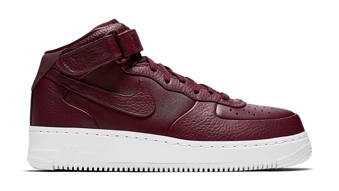 NikeLab Air Force 1 Mid Night Maroon Sole Collector Release Date Roundup