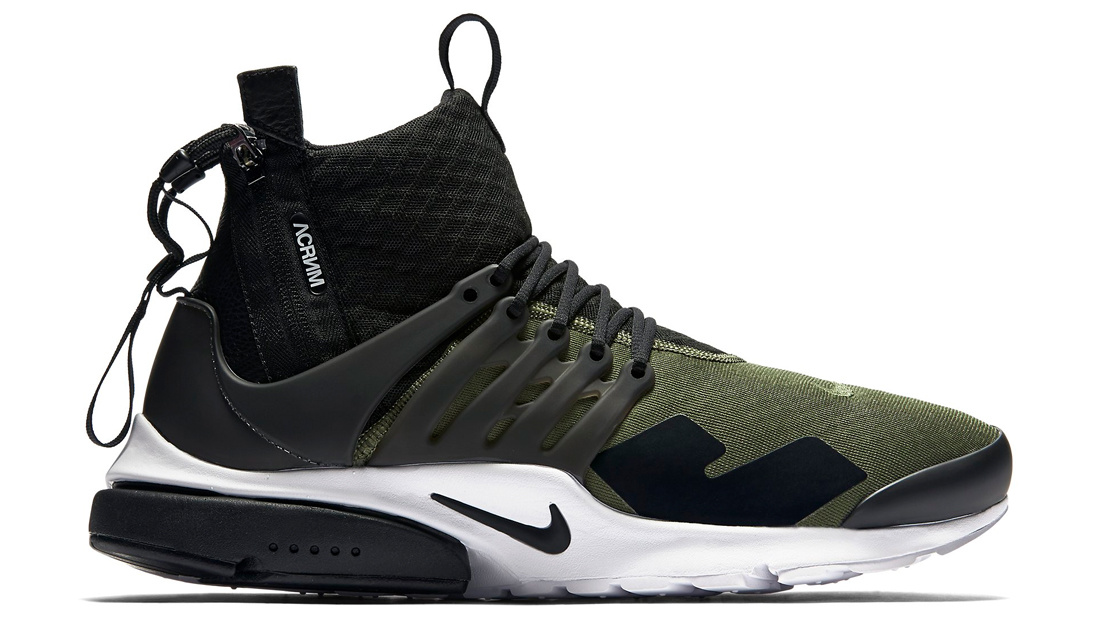 5e2483178879 NikeLab Air Presto Mid x Acronym Medium Olive Sole Collector Release Date  Roundup
