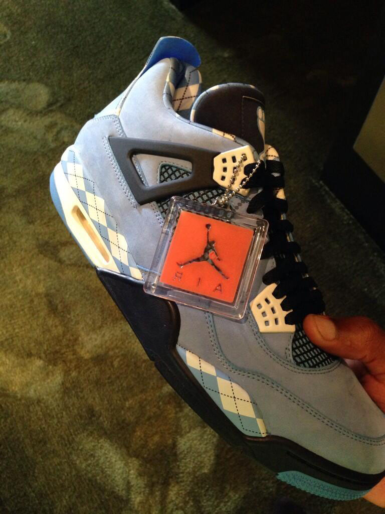 Marcus Jordan Picks Up Air Jordan 4 North Carolina