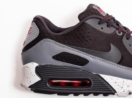 Nike Air Max 90 Engineered Mesh Black Grey Red | Sole