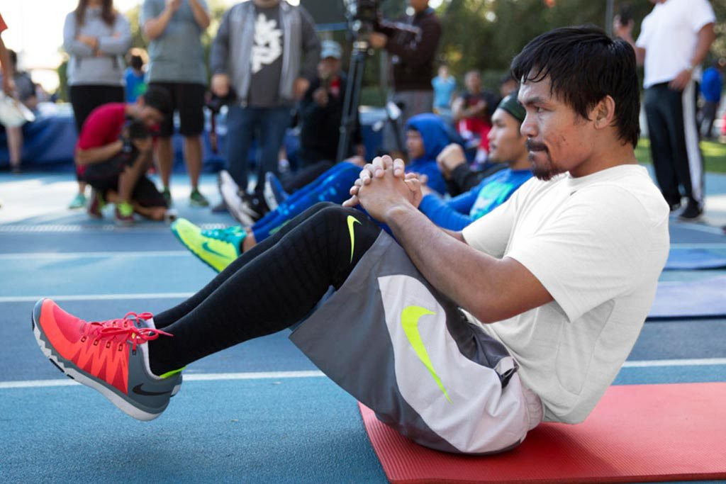 Manny Pacquiao Training in the Nike Free Trainer 5.0 V6