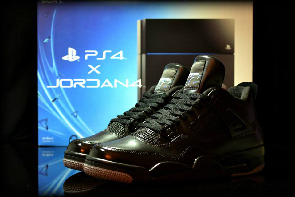 Playstation Air Jordan IV 4 by FreakerSneaks (1)