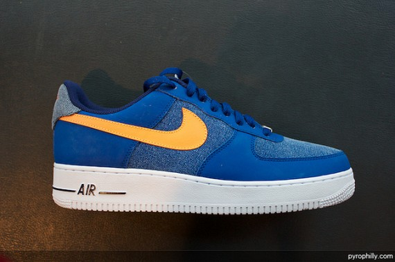 online store fcb47 9780b Nike Air Force 1 Low - Storm Blue Vivid Orange