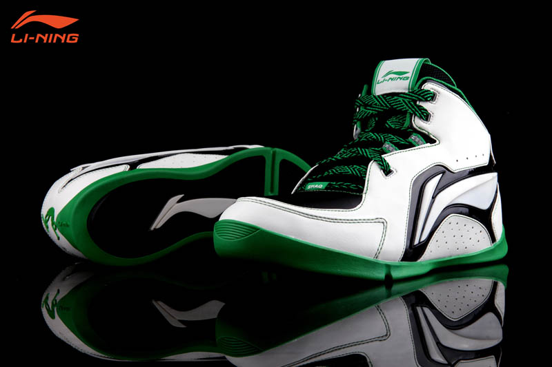Li-Ning Shaq Zone White Green Black Celtics