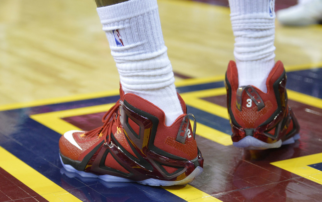 LeBron James wearing the 'Team' Nike LeBron XII 12 Elite