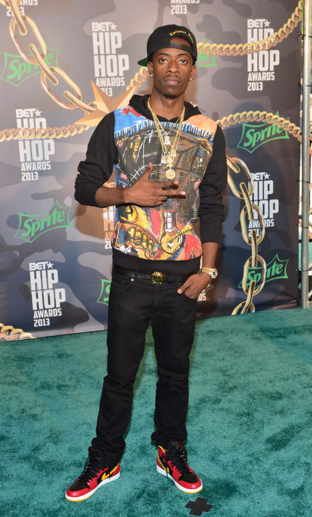 Rich Homie Quan wearing Air Jordan 1 I Retro High OG Highlight Reel