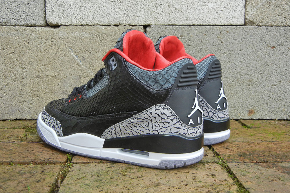 "Air Jordan III 3 Retro ""Black Python"" by JBF Customs (5)"