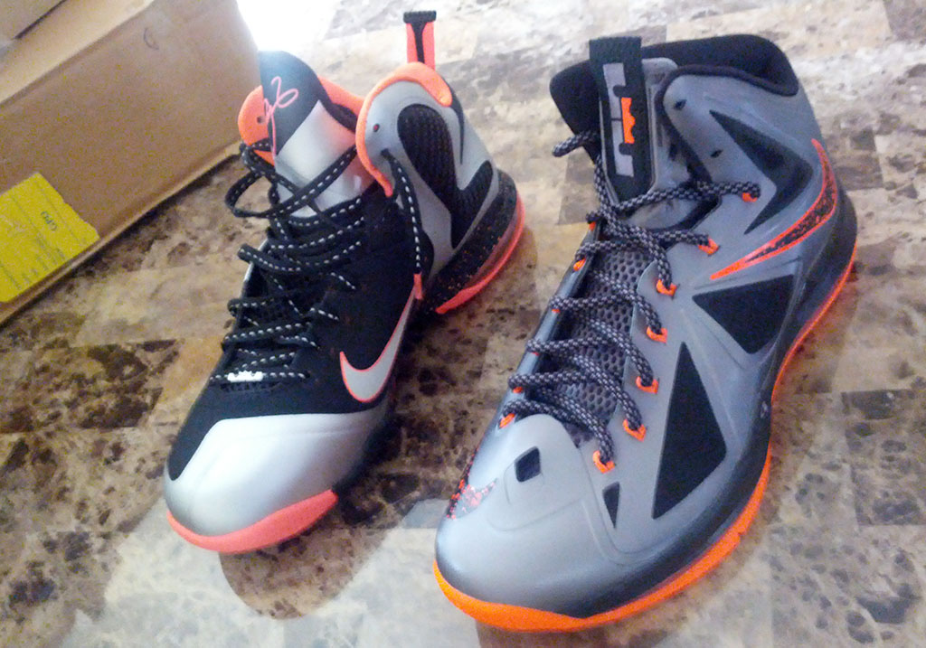 Nike LeBron X 10 Silver Black Orange Mango (11)