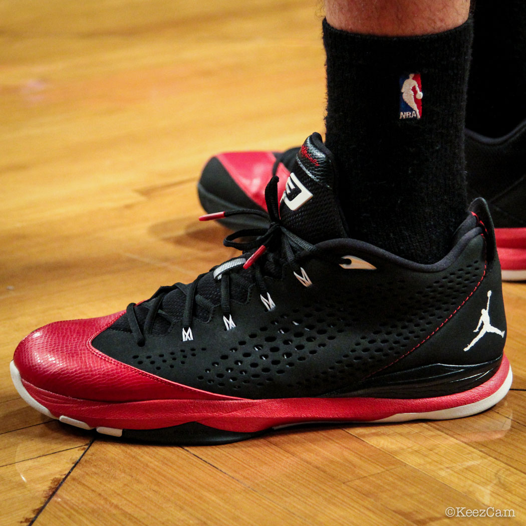 SoleWatch // Up Close At Barclays for Nets vs Clippers - Byron Mullens wearing Jordan CP3.7