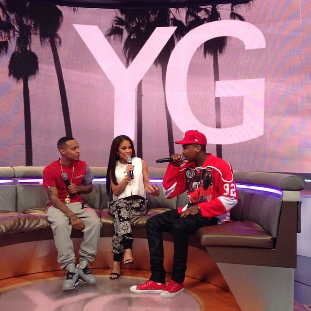 Bow Wow wearing Air Jordan III 3 Retro 5Lab3; YG wearing Converse Chuck Taylor All Star