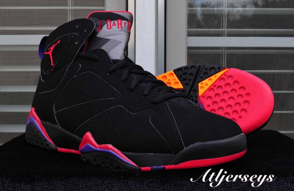 e6bf4f5ebb59ed ... closeout nike air jordan vii 7 retro black red charcoal purple raptors  304775 018 40f2a 7062d