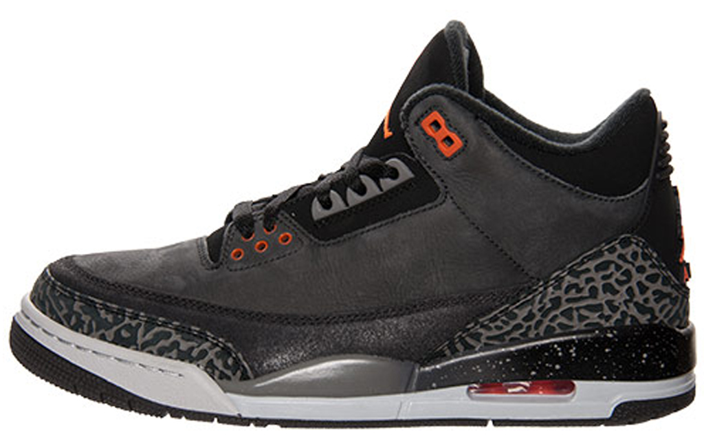 air jordan 3 black and orange
