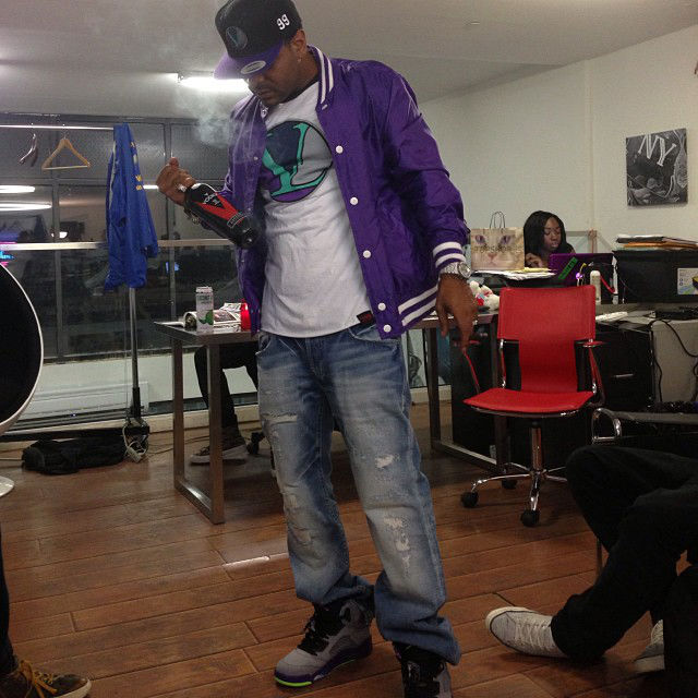 Jim Jones wearing Air Jordan V 5 Retro Fresh Prince