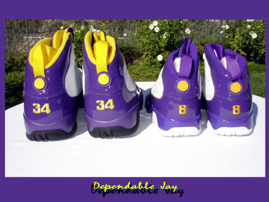 Air Jordan IX 9 Shaquille O'Neal Shaq Lakers Home PE (4)