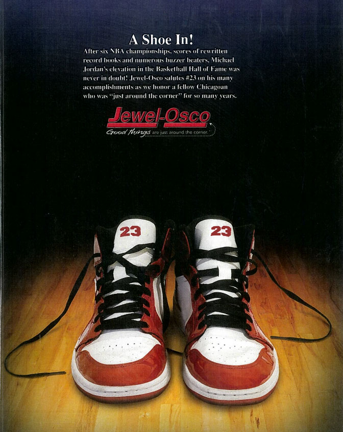 Michael Jordan Jewel Osco Air Jordan 1 Ad