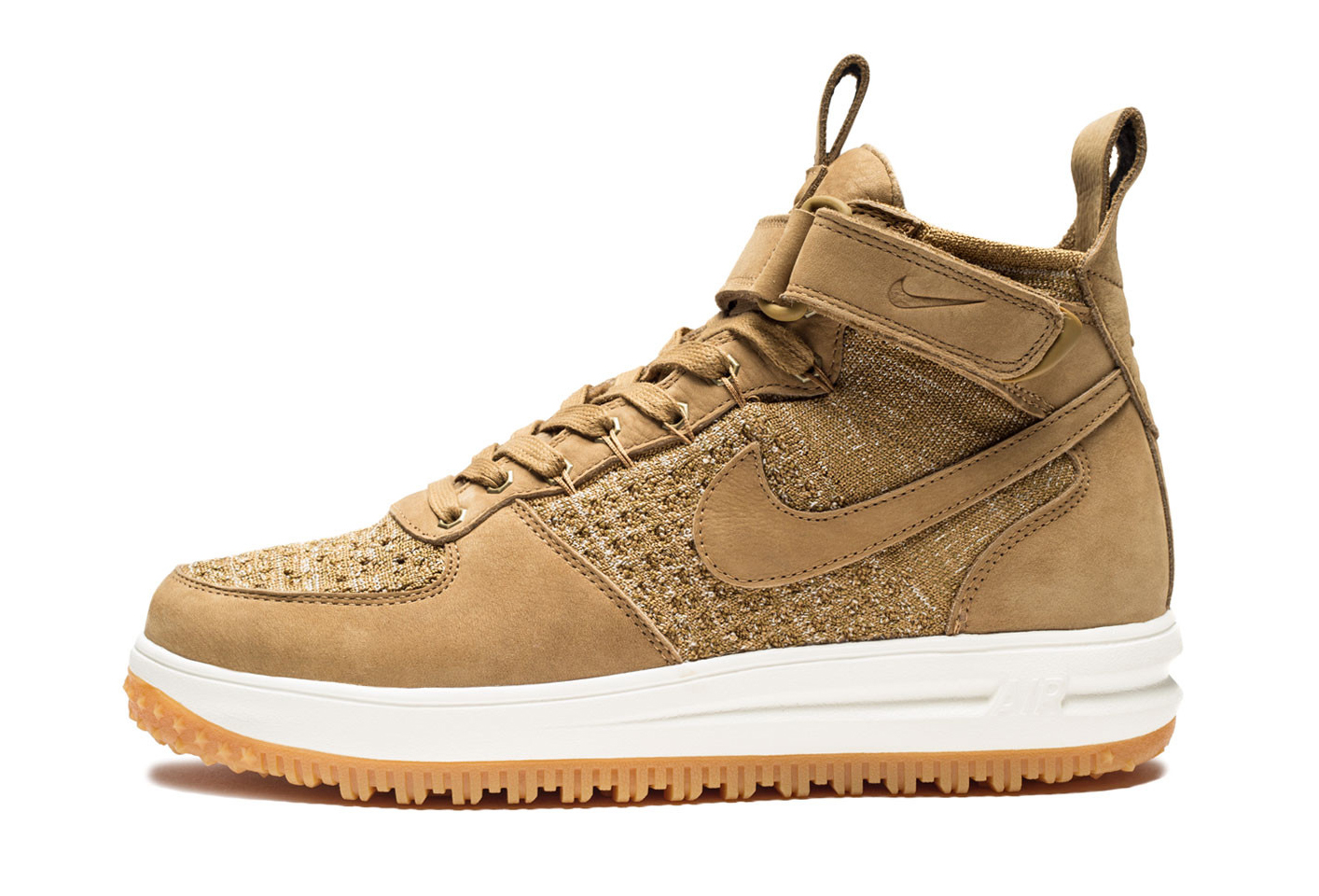 Wheat Nike Air Force 1 Boot Profile