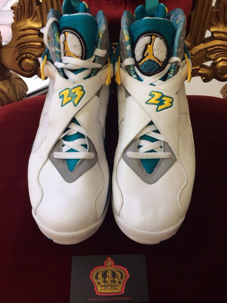 check out 1385b 9c874 Chris Paul's 'Hornets Home' Air Jordan 8 PE Available on ...