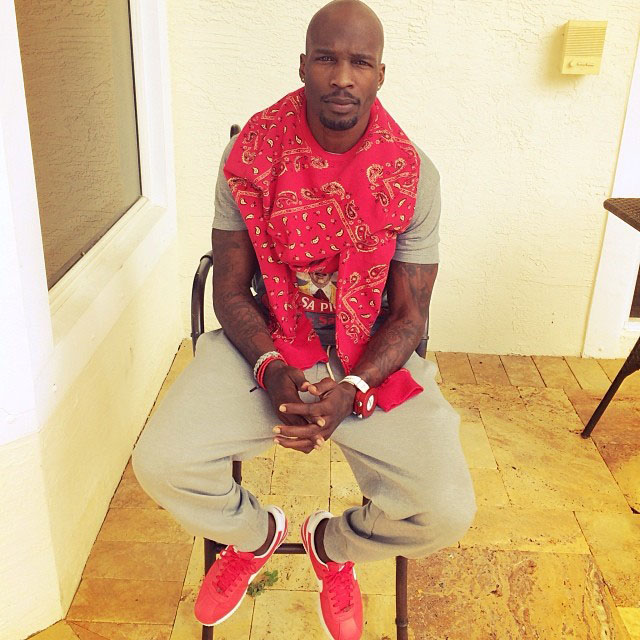 Chad Johnson wearing Nike Cortez