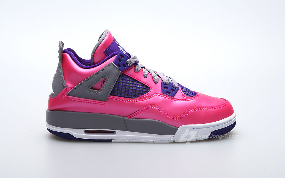 Air Jordan 4 Retro GS Pink Purple Grey 487724-607 (1)
