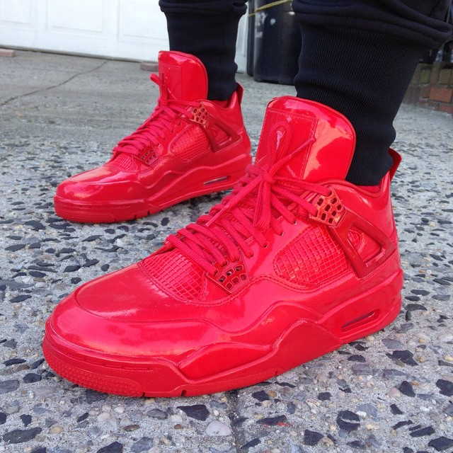 Air Jordan 11Lab4 Red On-Foot 719864-600 (2)