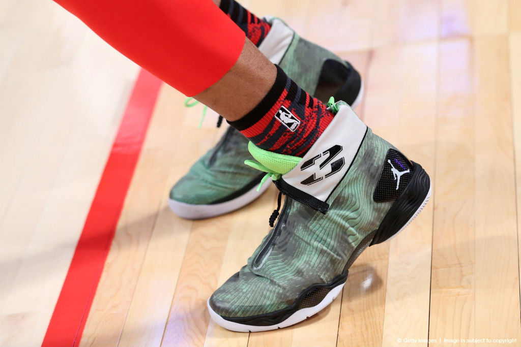 Russell Westbrook wearing Air Jordan XX8 All-Star Stealth (2)