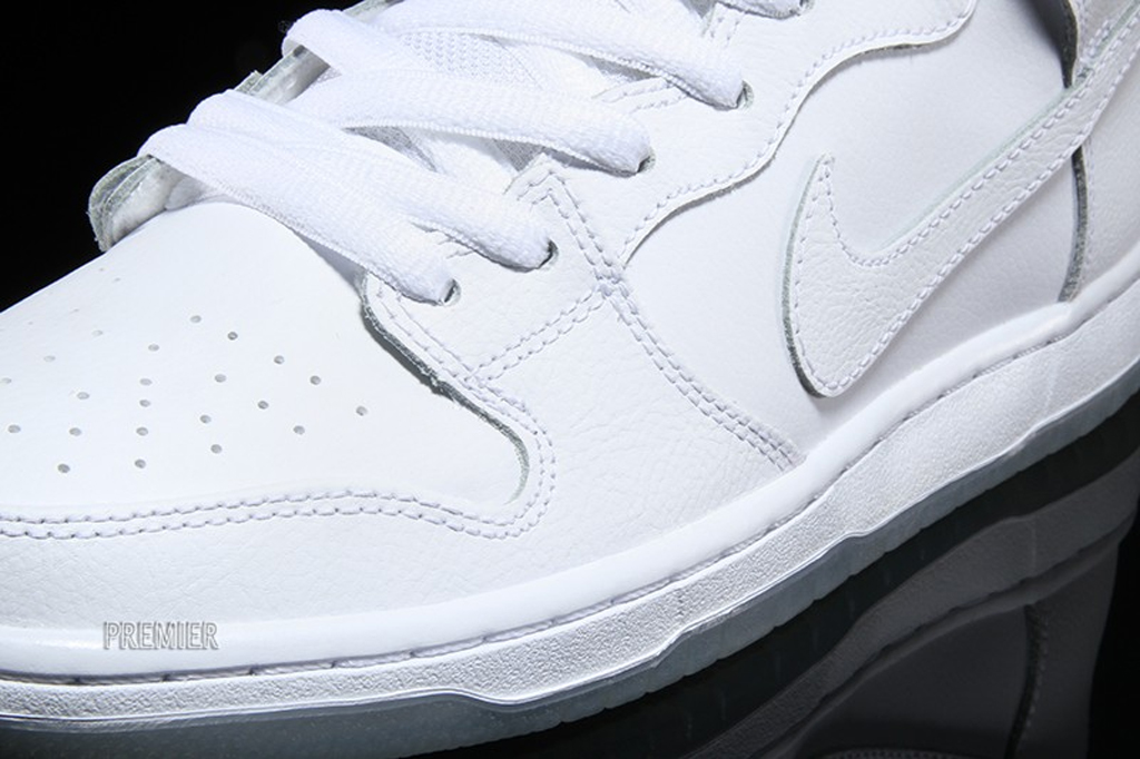The Nike SB Dunk High Goes 'All White' For Spring