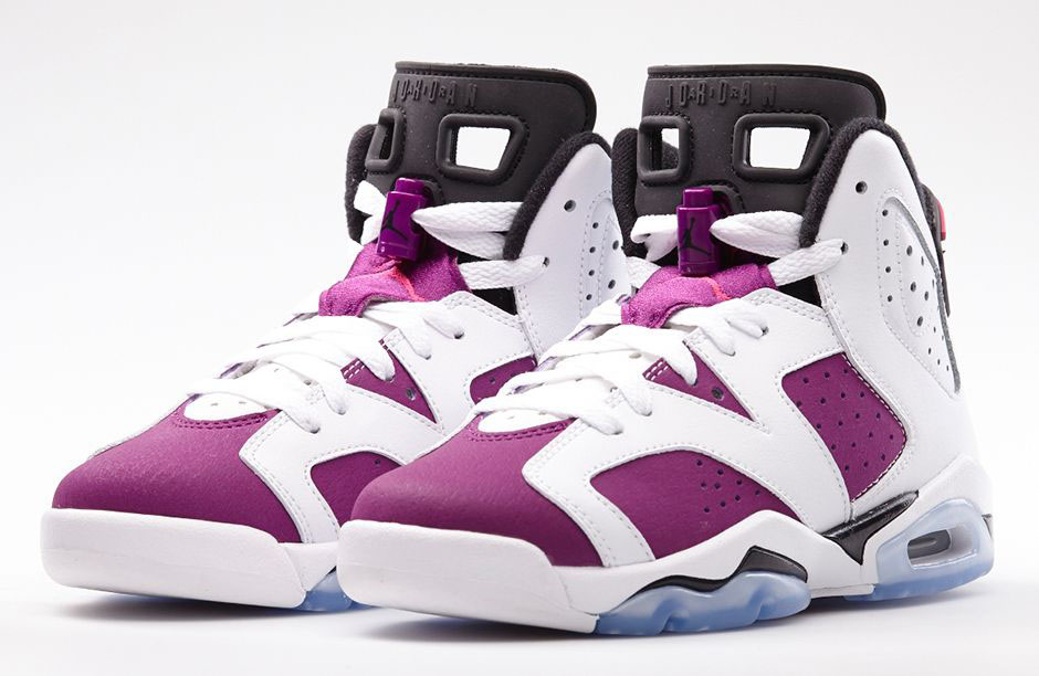 factory price 2d394 4cb9d Air Jordan VI 6 GS Grape Vivid Pink 543390-127 (1)