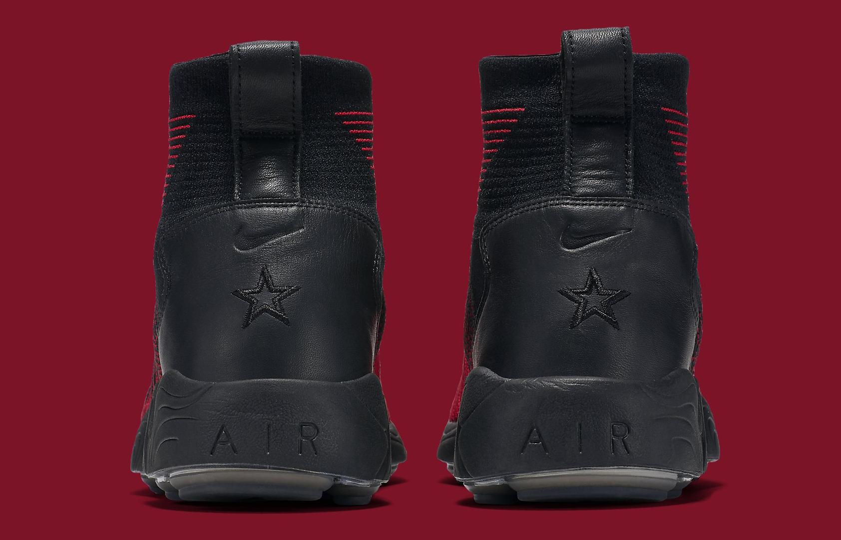 Nike Zoom Mercurial Flyknit Red Black Heel