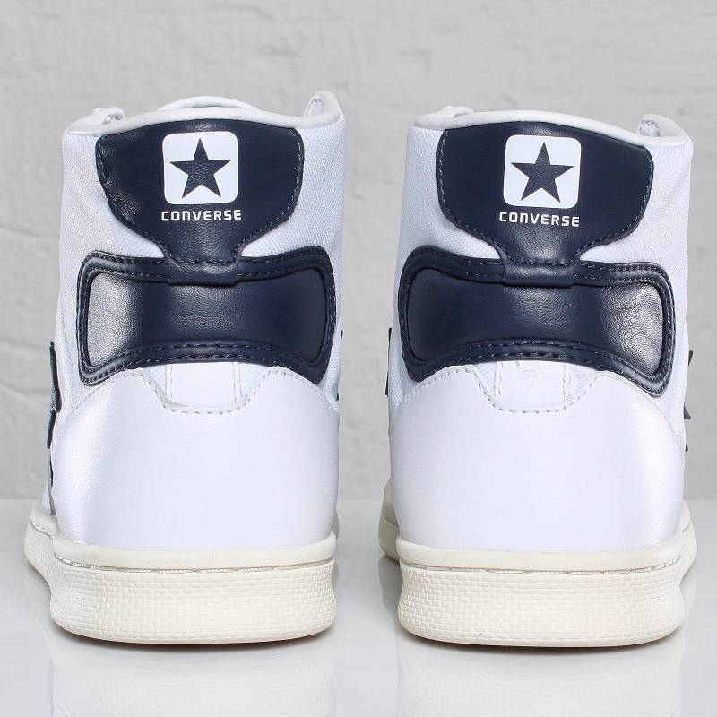 f40c8e2b38e3 Converse Fastbreak Pro Mid Shoes - Navy White Enamel Red ... Converse Fast  Break Pro Leather - White Navy ...