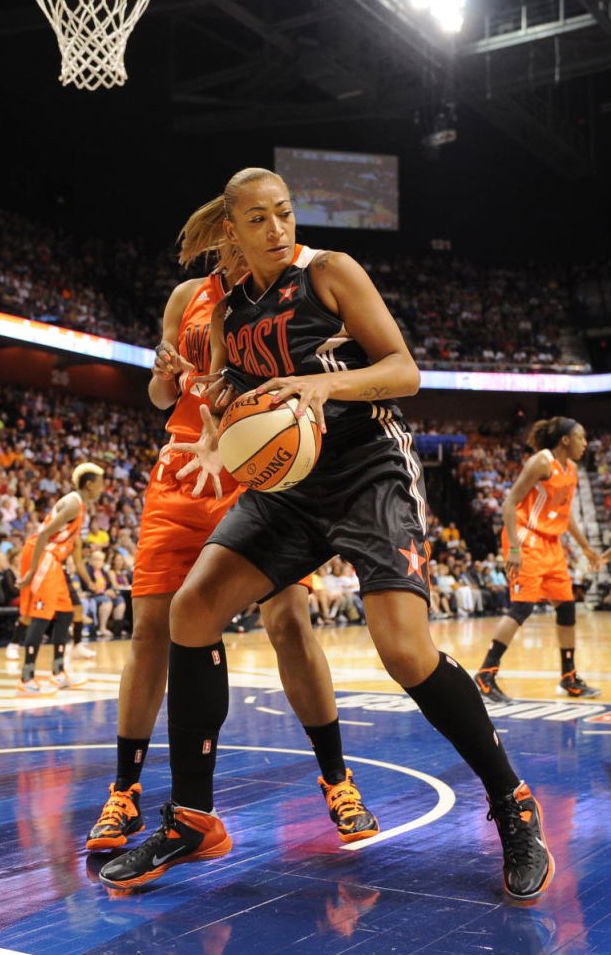Erika de Souza wearing Nike Hyper Quickness All-Star PE
