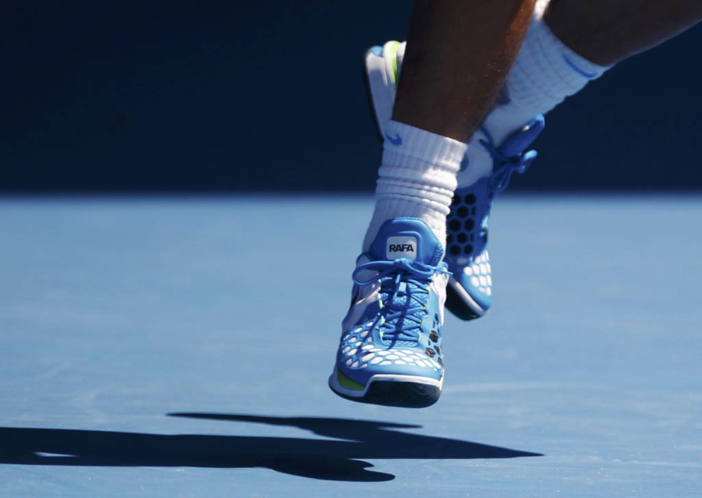 Rafael Nadal wearing Nike Air Max Courtballistec 4.3