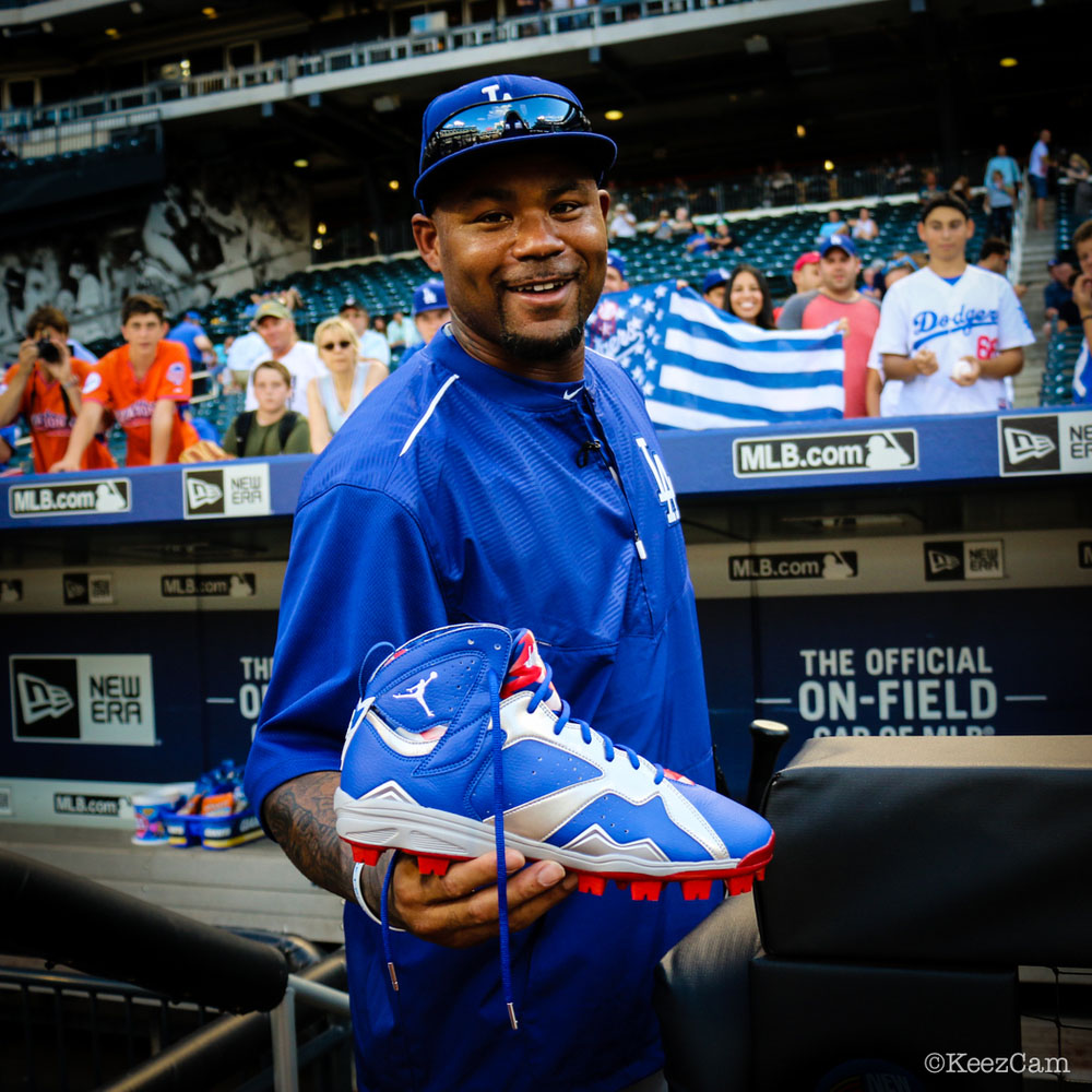 Air Jordan 7 Carl Crawford Dodgers PE Cleats (8)