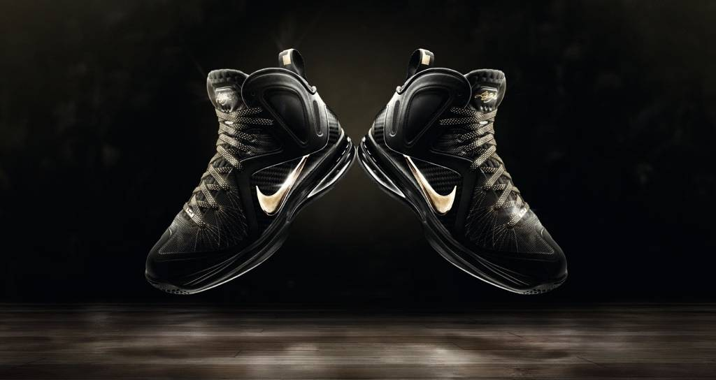 new styles d334d 93f42 Nike LeBron 9 Elite Away Black Metallic Gold 516958-002 (1)