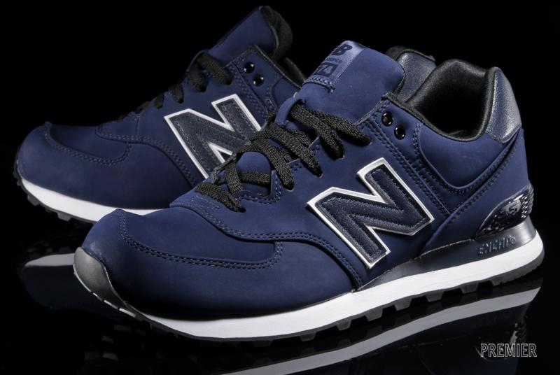 mens 574 new balance navy blue and black