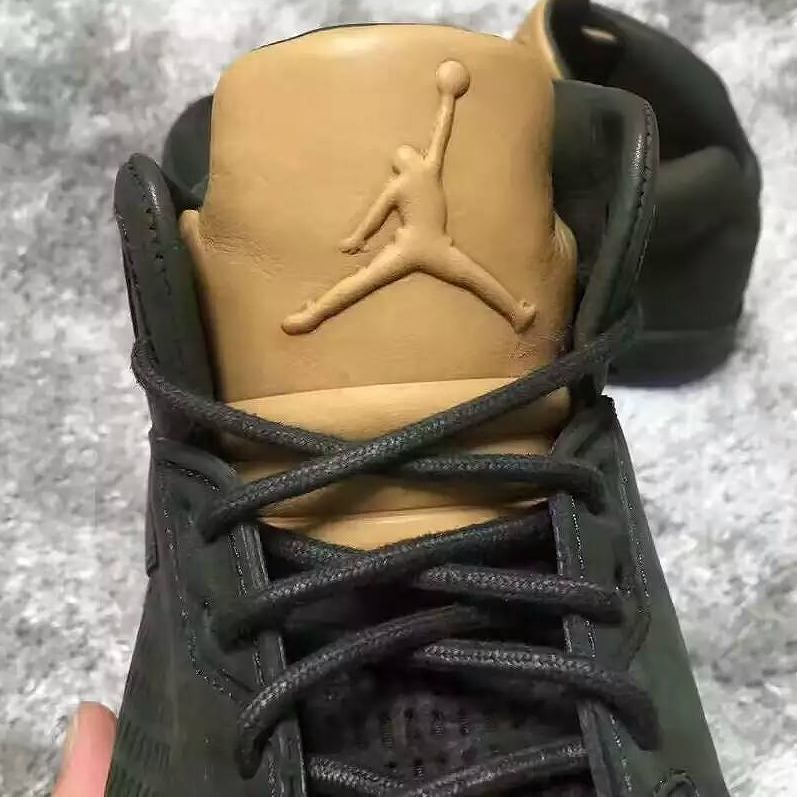 984d63e541d0 Air Jordan 5 Premium Green Tan Release Date Tongue