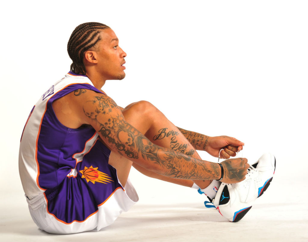 Michael Beasley wearing Air Jordan VII 7 Orion