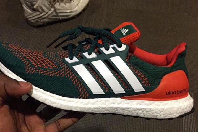 huge discount 0b13d 7d36e The Miami Hurricanes Got Laced With Their Own adidas Ultra Boosts ...
