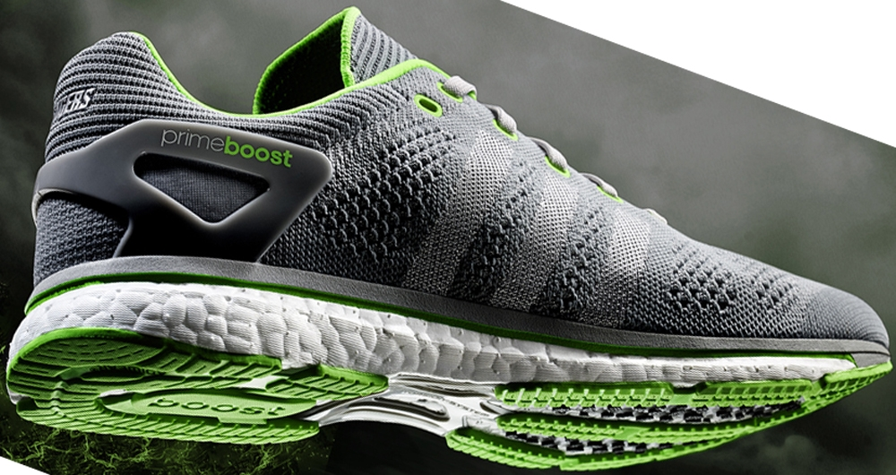 adidas adiZero Prime Boost Cool Grey/Silver Metallic-Solar Green