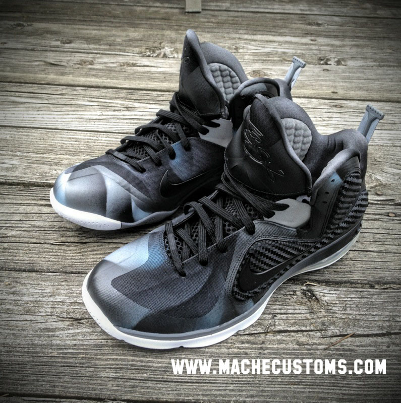 "Nike LeBron 9 ""Dark Knight"" by Mache Custom Kicks 