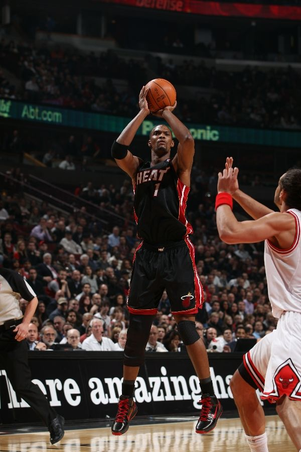 Chris Bosh wearing the Nike Air Max Hyperdunk 2010