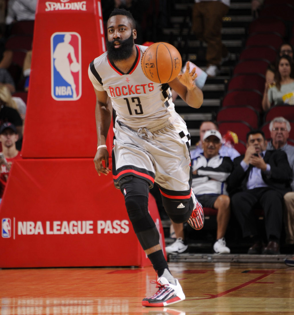 best service 98fae a5590  SoleWatch  James Harden Wears a New adidas Crazylight Boost 2015 PE
