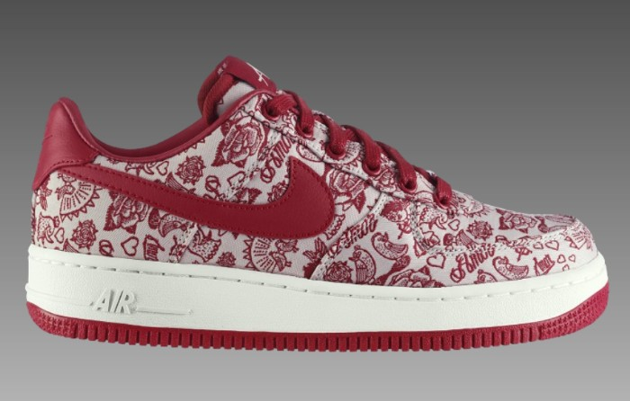e26eea2d411f Nike Air Force 1 07 Valentine s Day Sail Varsity Red Black 315115-122