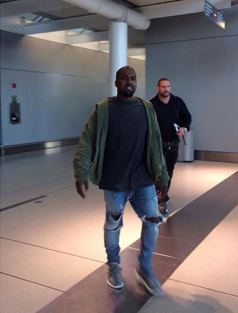 Kanye West wearing the adidas Yeezy 350 Boost