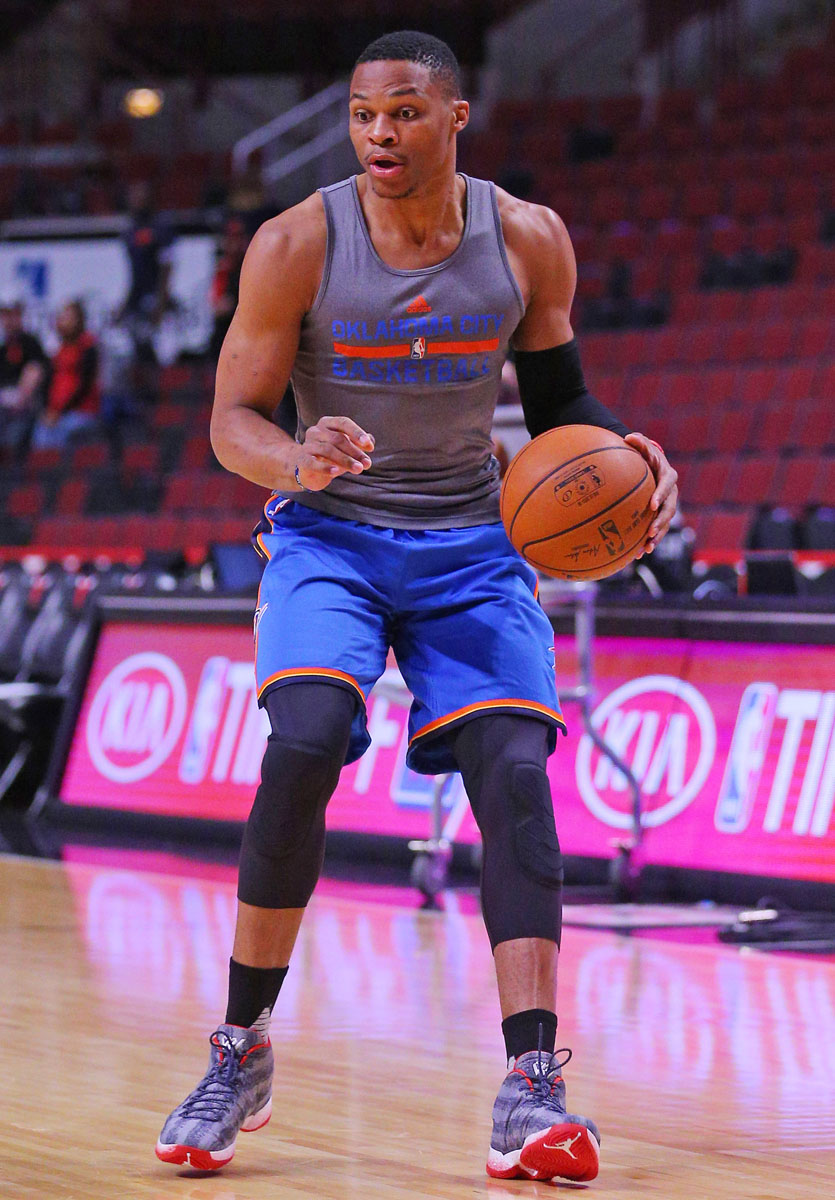 Russell Westbrook wearing 'Veteran's Day' Air Jordan XX9 PE (3)