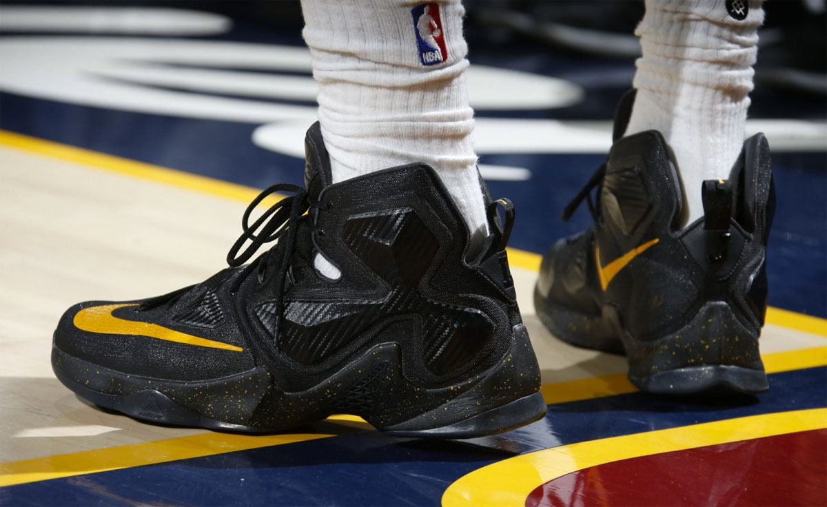 ee69b99f3b17d ... australia lebron james wearing a black yellow nike lebron 13 pe 1 ca22b  67910