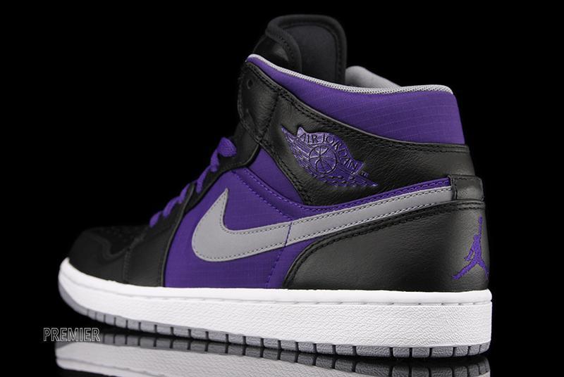 air jordan 1 black and purple