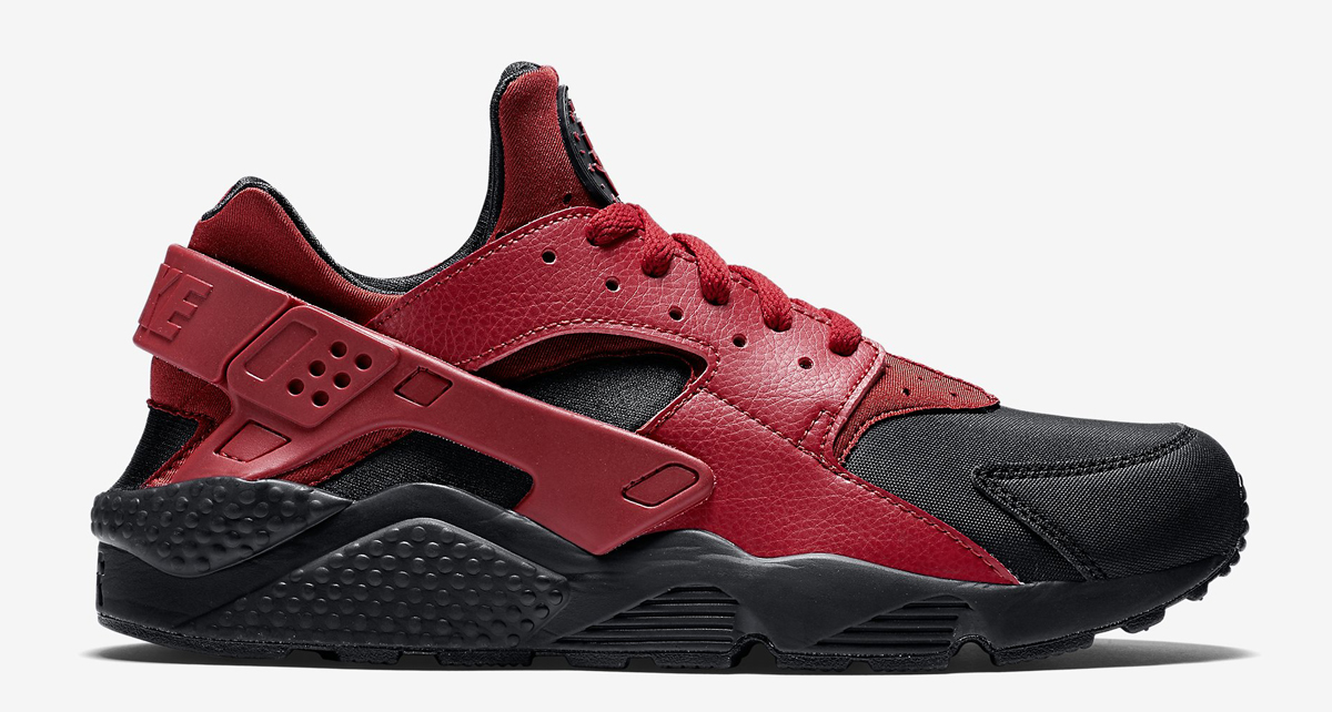 nike huarache red and black