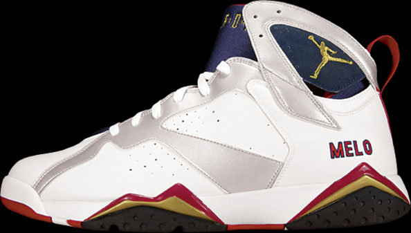 ddfe63399be99d Carmelo Anthony wearing Air Jordan 7 Retro Olympic PE (2)