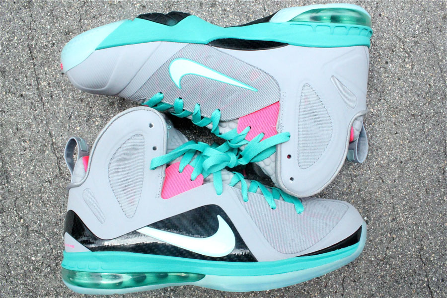 super popular 6d325 9f0ec Nike LeBron 9 P.S. Elite Miami Vice South Beach 516958-001 (3)