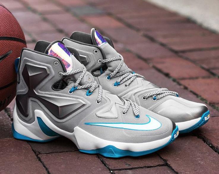 cc4c5b40052 12. Nike LeBron 13 Grey Silver Blue via kicksenvy.co